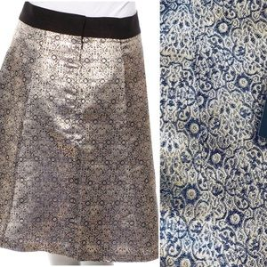 Narciso Rodriguez Women's Skirt Gold Metallic
